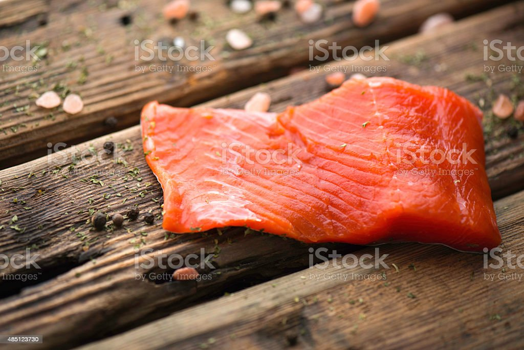 Fresh Sockeye Salmon stock photo