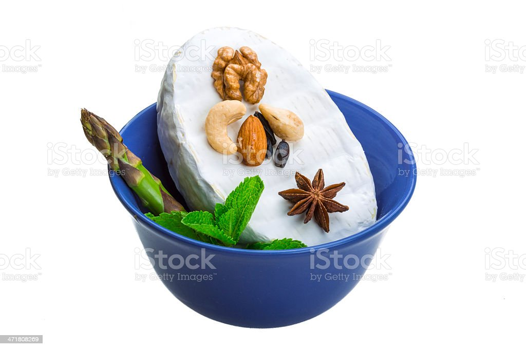 Fresh soft brie cheese royalty-free stock photo