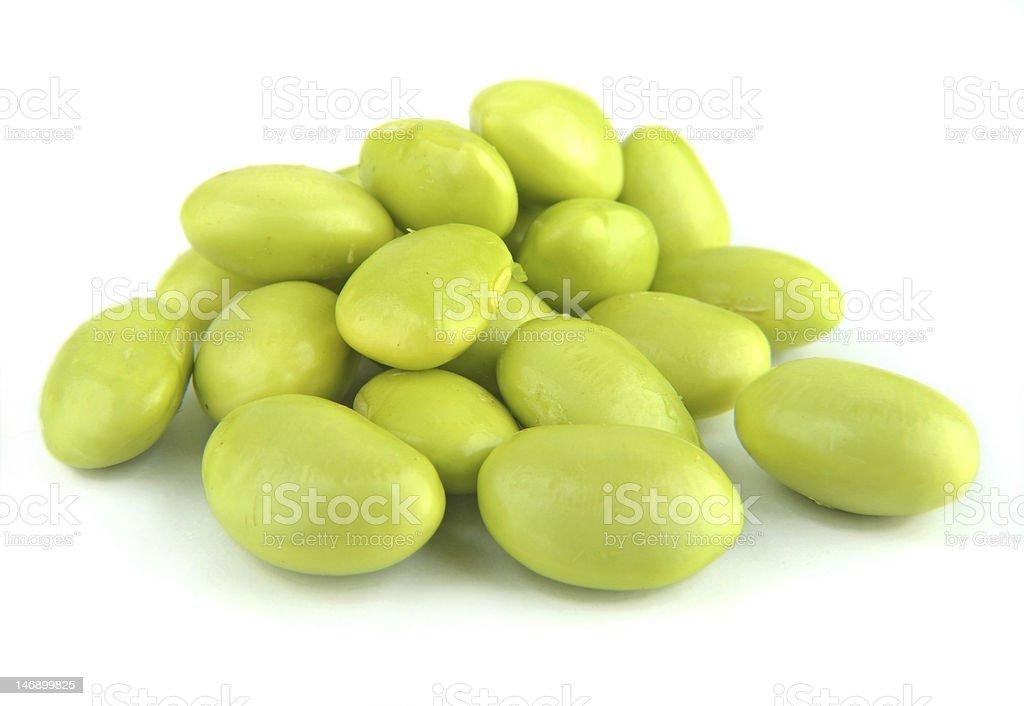 Fresh soybeans stock photo