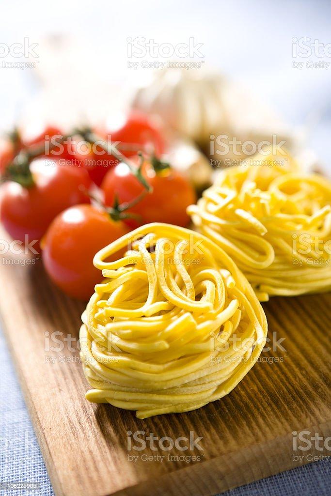 Fresh spaghetti noodles royalty-free stock photo