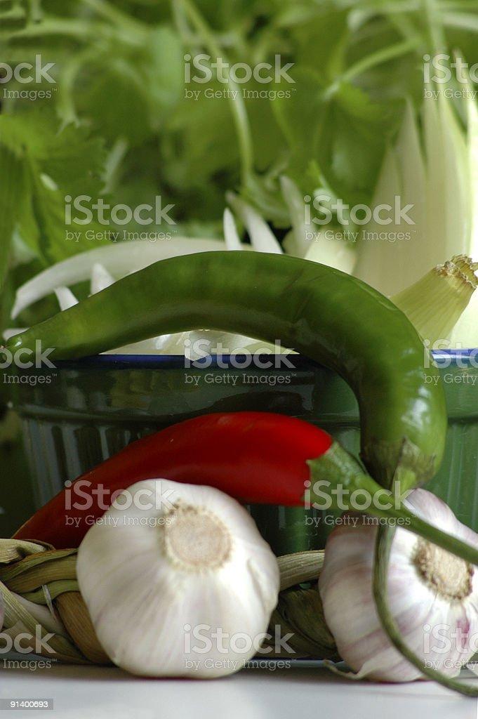 fresh spices stock photo