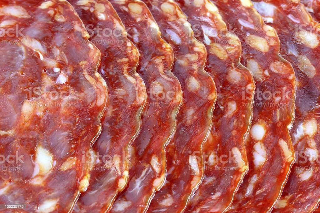 Fresh spicy Pepper Salami royalty-free stock photo