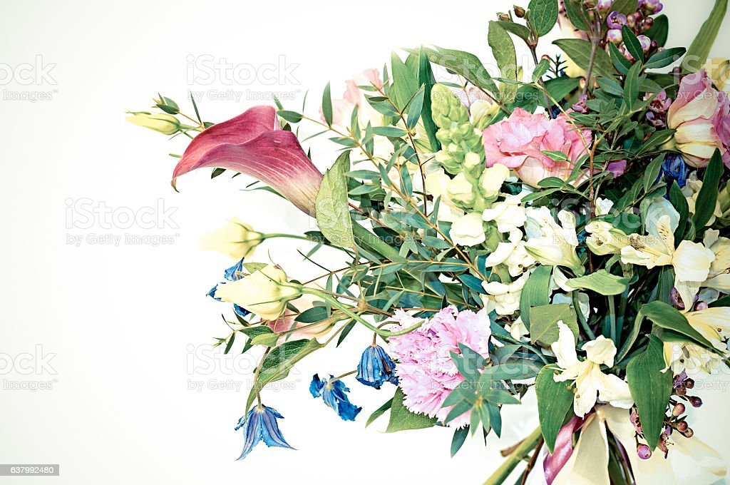Fresh spring bouquet. Summer Background. beautiful flowers made stock photo