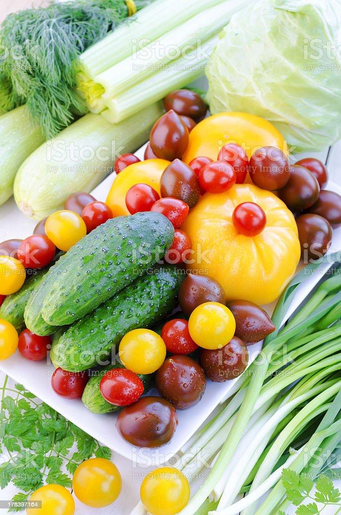 Fresh Spring Vegetables royalty-free stock photo