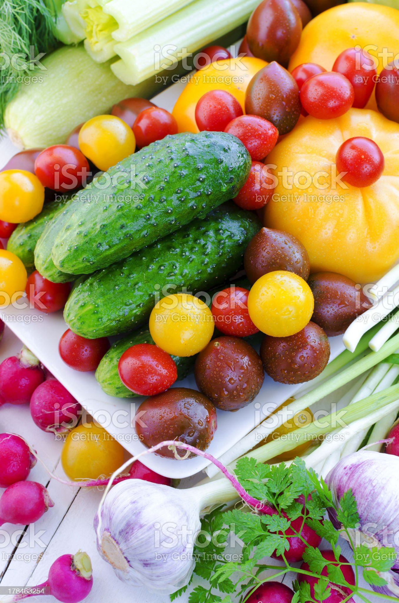 Fresh Spring Vegetables royalty-free stock photo