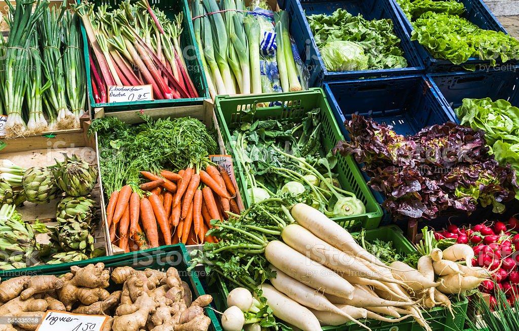 Fresh Spring Vegetables stock photo