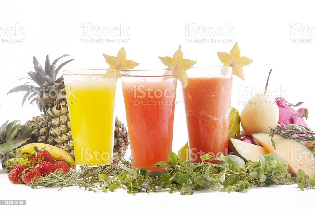 Fresh squeezed juice stock photo