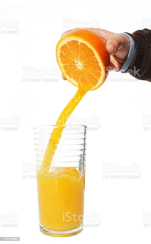 fresh squeezed, juicy orange royalty-free stock photo
