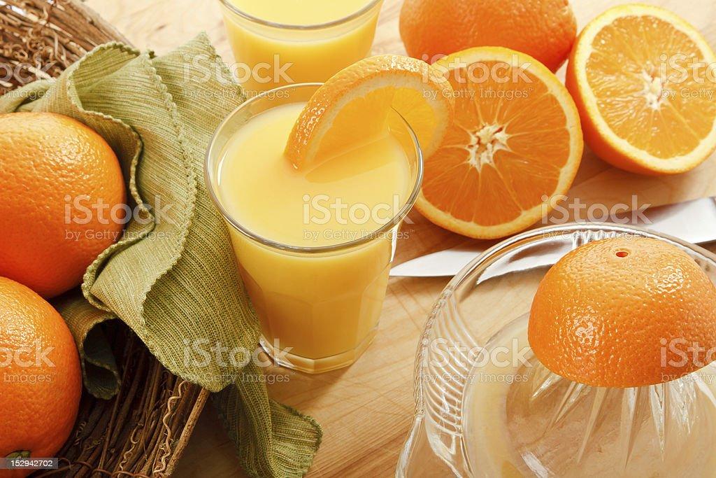 Fresh Squeezed Orange Juice stock photo