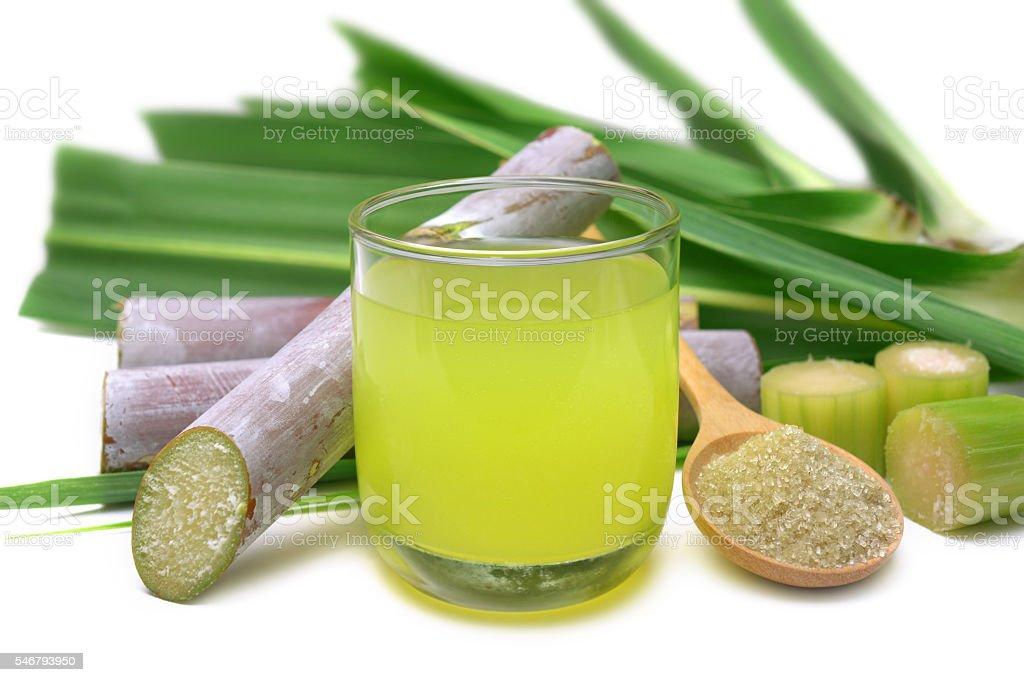 Fresh squeezed sugar cane juice. stock photo