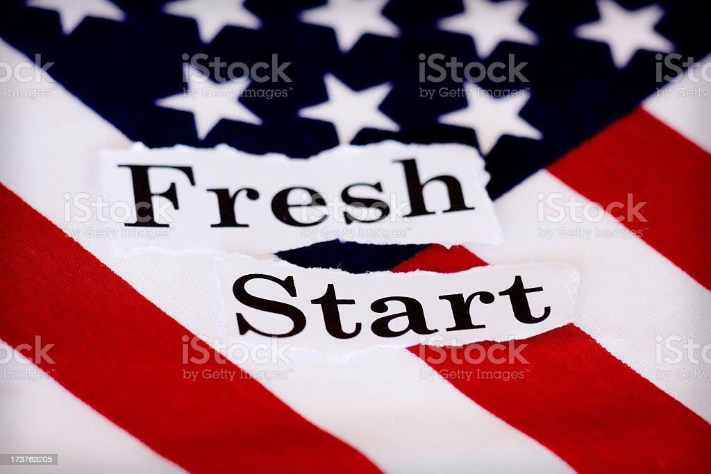 fresh start stock photo