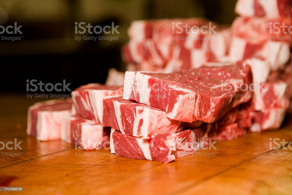 Fresh Steaks stock photo