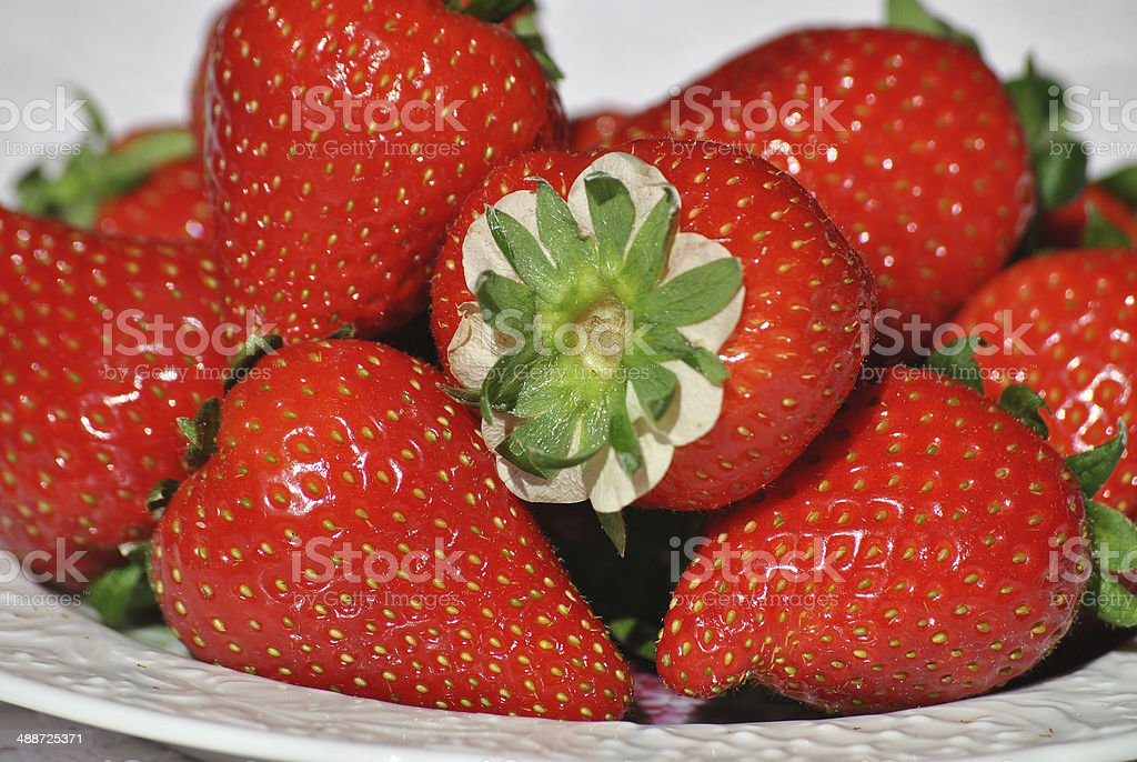 Fresh straberries close up royalty-free stock photo