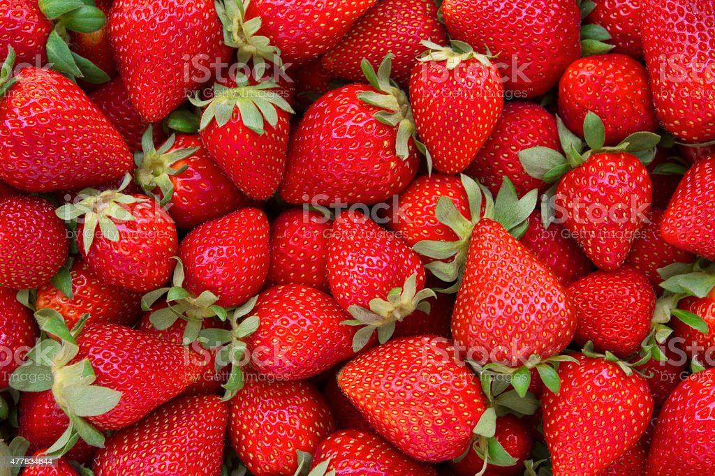 Fresh Strawberries Background stock photo