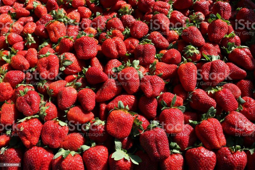 Fresh Strawberries Background stock photo