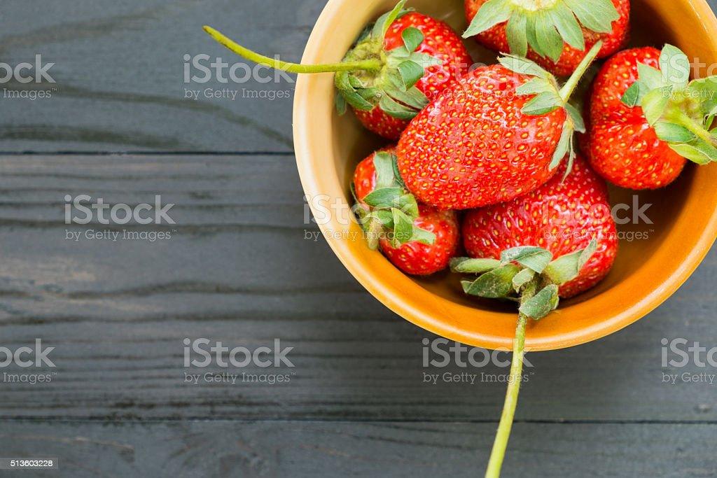 Frische Erdbeeren mit Schleife Lizenzfreies stock-foto
