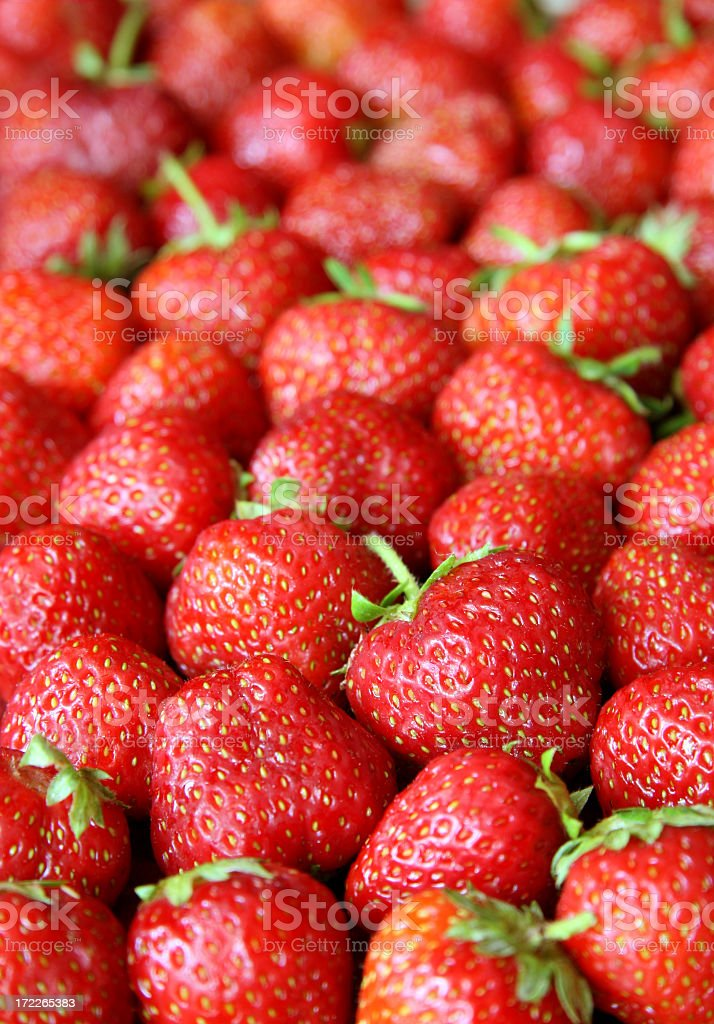 Fresh strawberries royalty-free stock photo