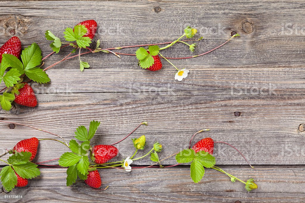 Fresh strawberries. stock photo
