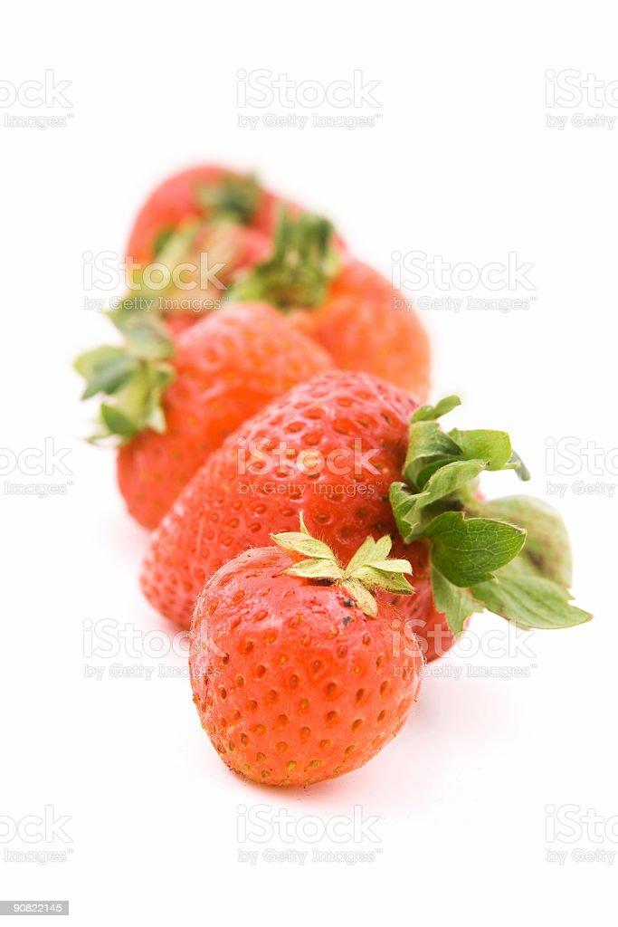 Fresh strawberries royalty-free stock photo