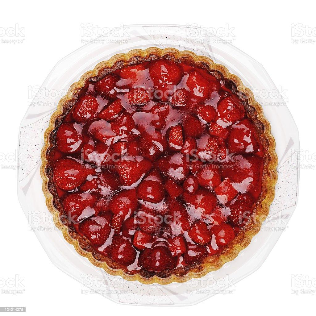 Fresh Strawberry Cake royalty-free stock photo