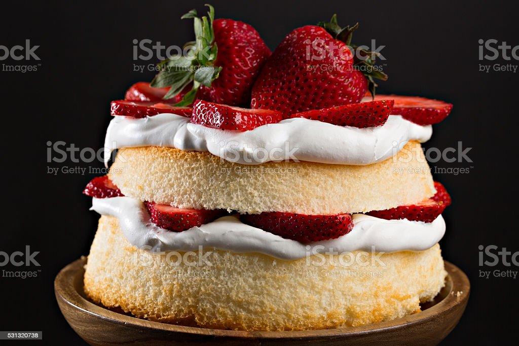 Fresh Strawberry Cake stock photo