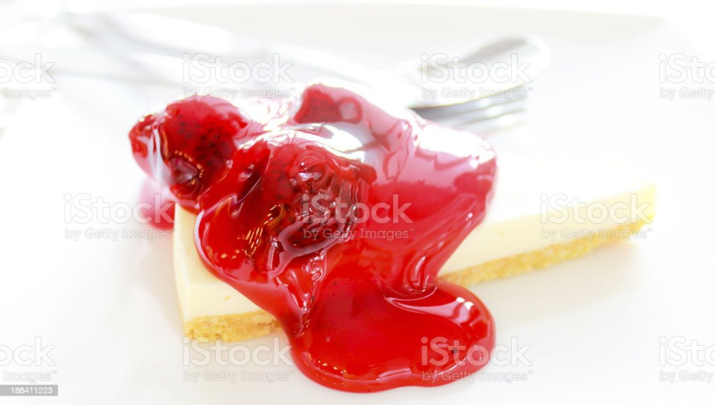 Fresh strawberry cheesecake royalty-free stock photo