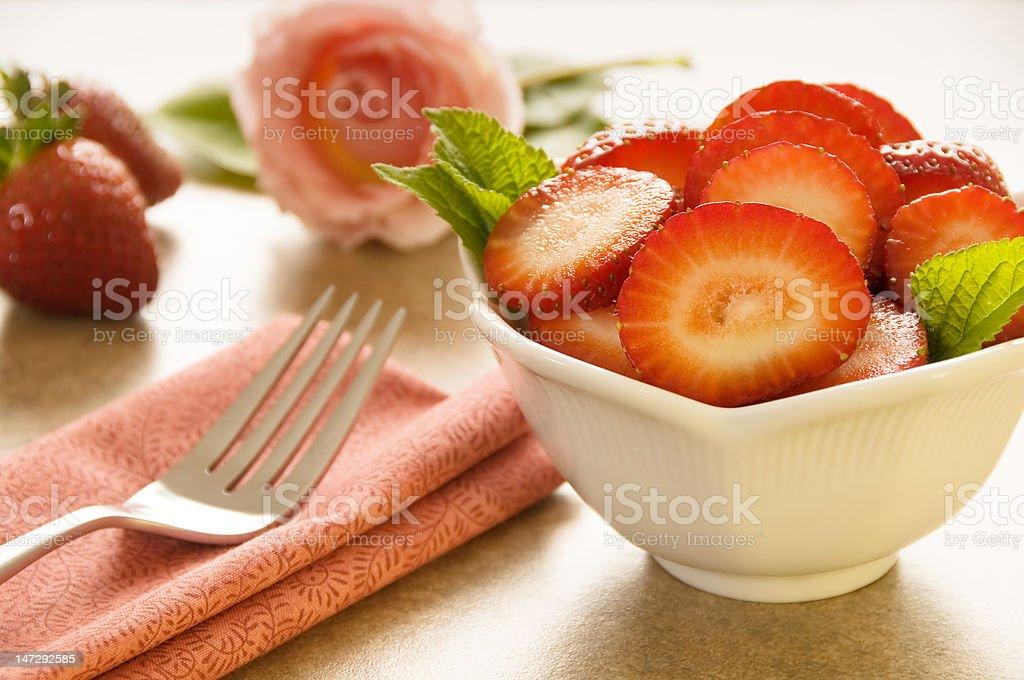 Fresh strawberry dessert royalty-free stock photo