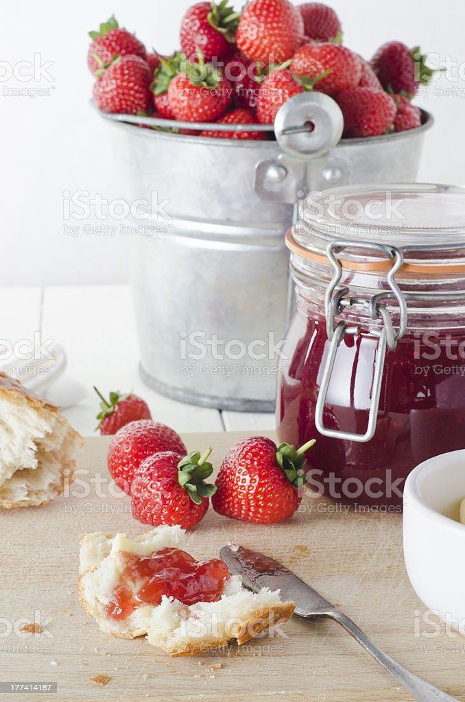 Fresh Strawberry Jam royalty-free stock photo