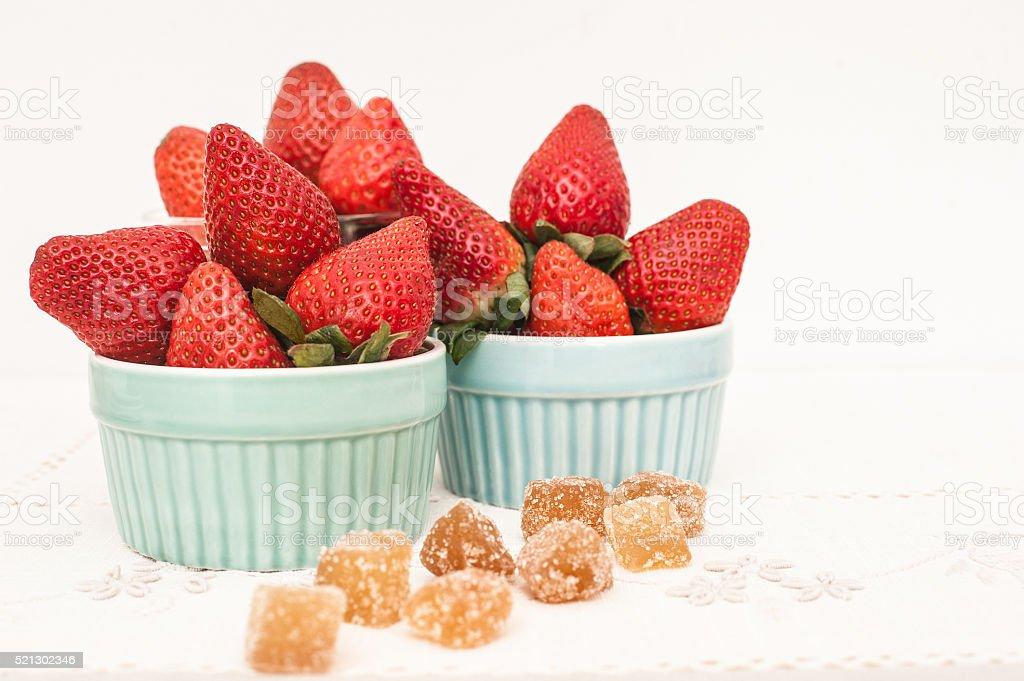 Fresh Strawberry on white stock photo