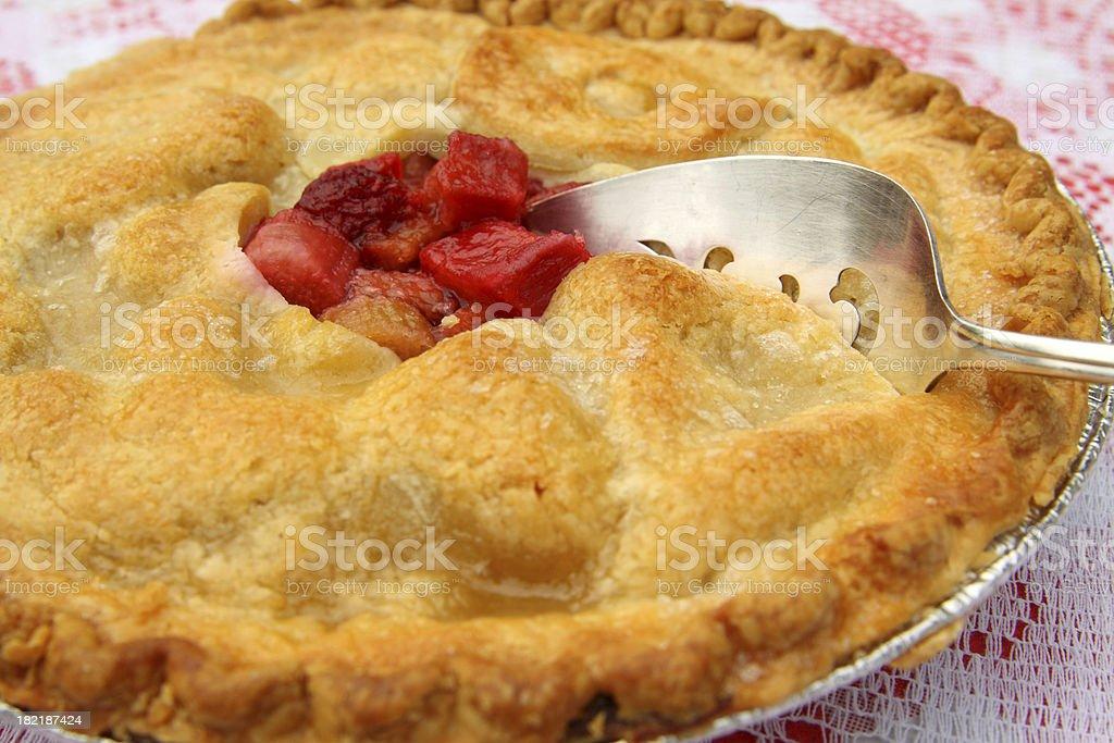 Fresh Strawberry Rhubarb Pie royalty-free stock photo
