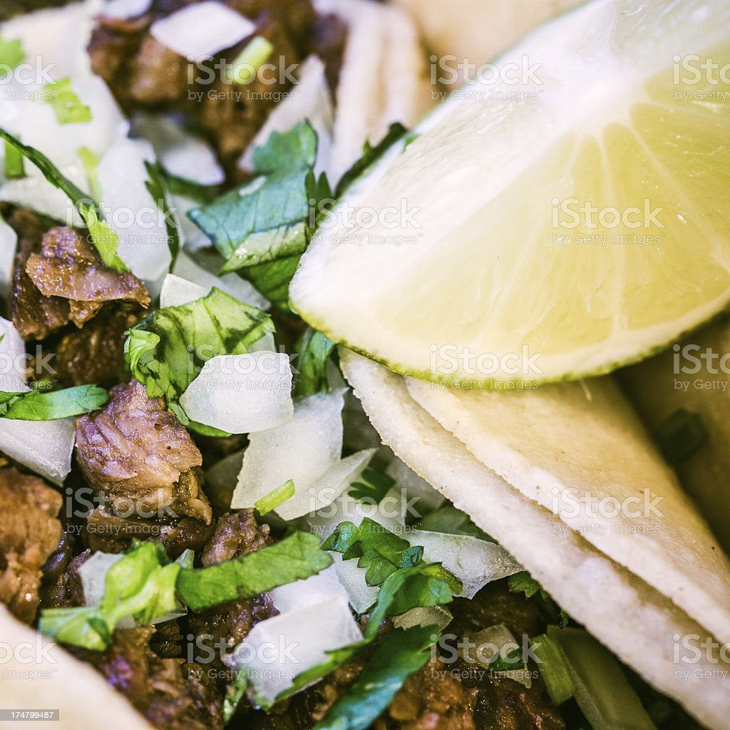 Fresh Street Vendor Tacos stock photo