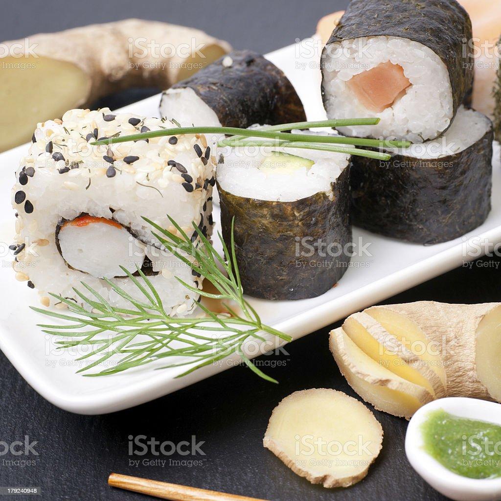 Fresh sushi royalty-free stock photo