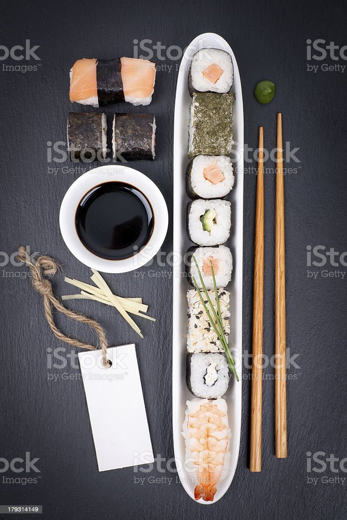 Fresh sushi royalty-free stock photo