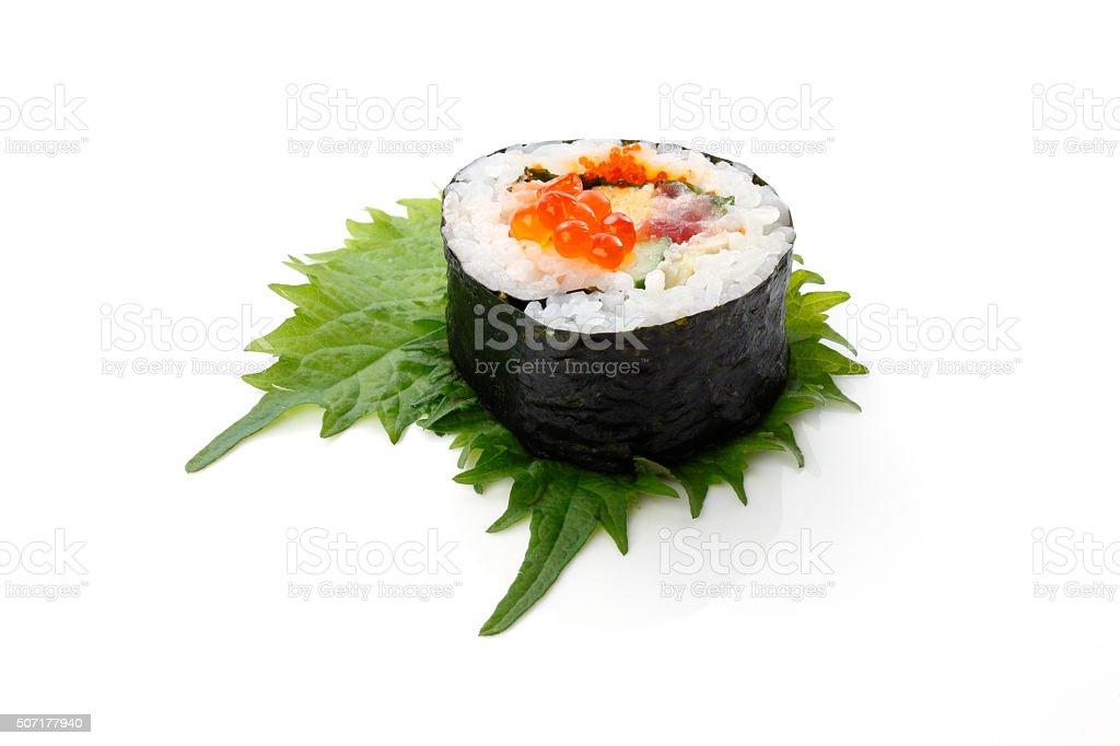 fresh sushi/rolled sushi stock photo