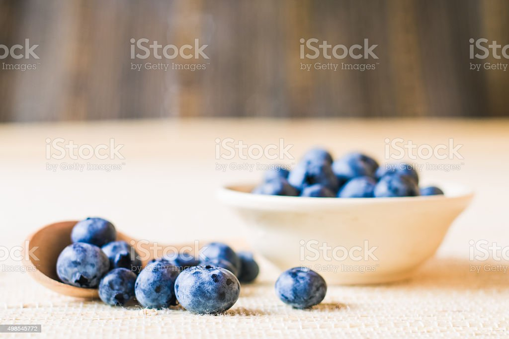 Fresh sweet blueberry fruit. Shallow depth of field stock photo