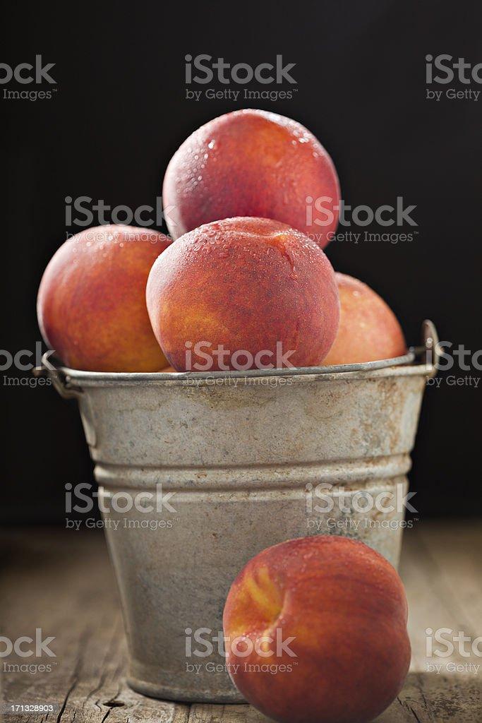 Fresh Sweet Peaches royalty-free stock photo