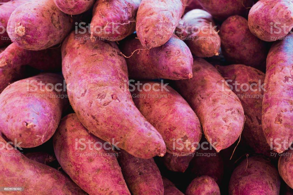 Fresh sweet potato stock photo