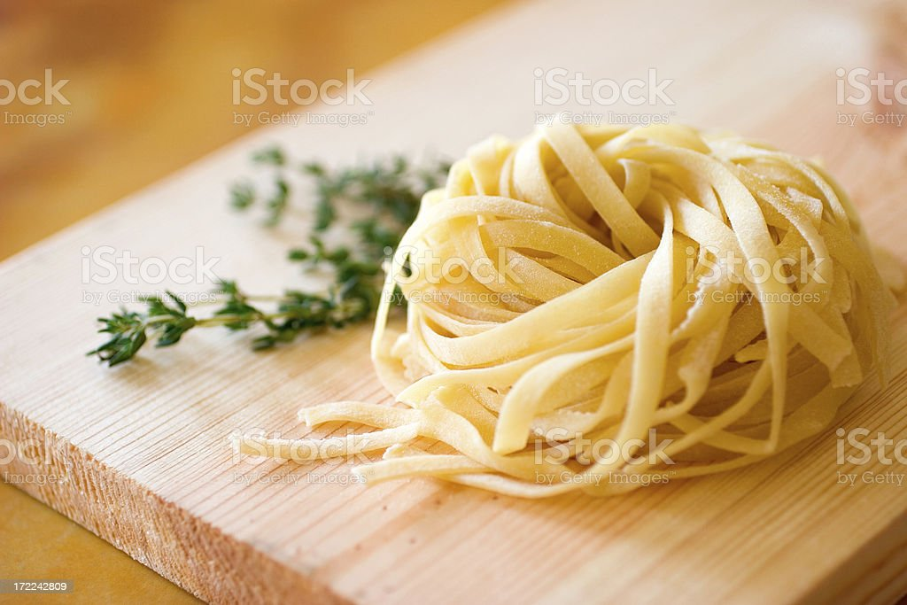 Fresh Tagliatelle stock photo