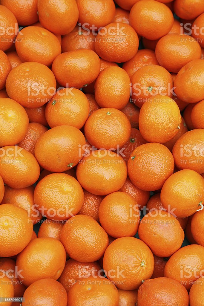 Fresh tangerines for sale stock photo