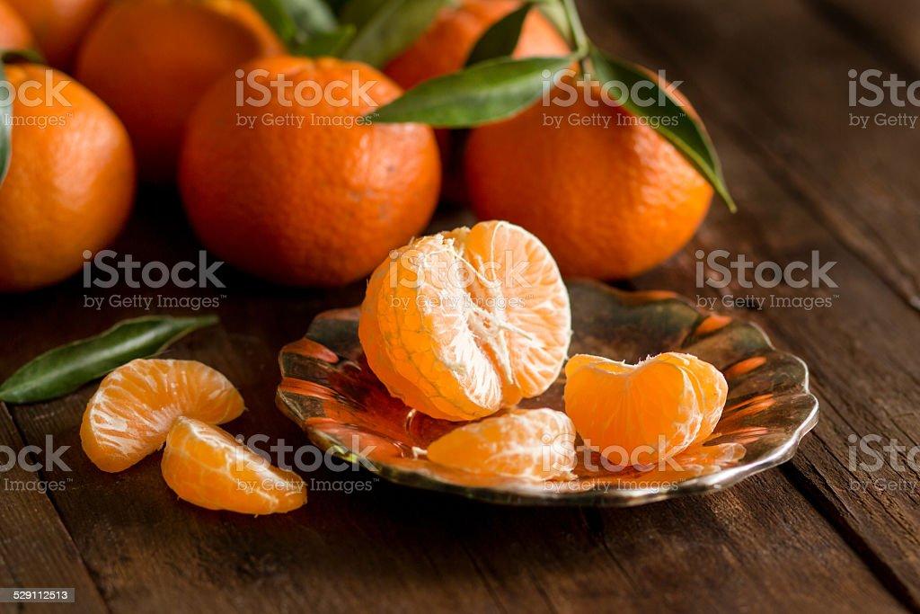 Fresh Tangerines stock photo