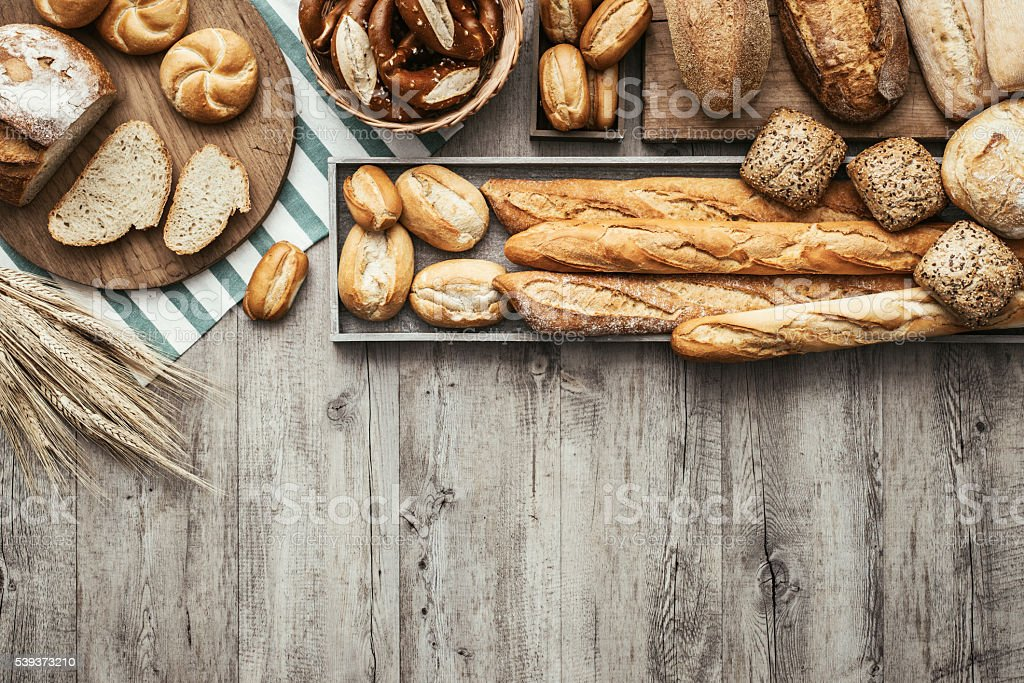 Fresh tasty bread stock photo