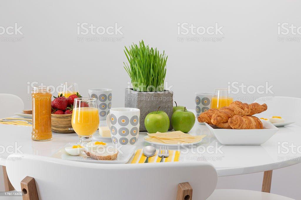 Fresh tasty breakfast stock photo