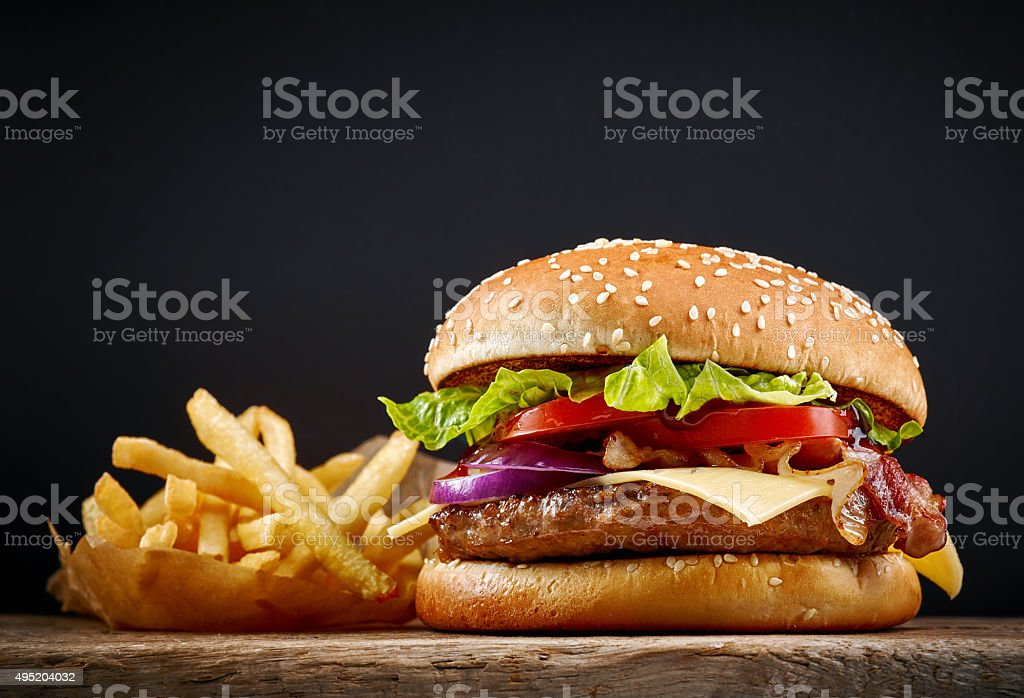 fresh tasty burger stock photo