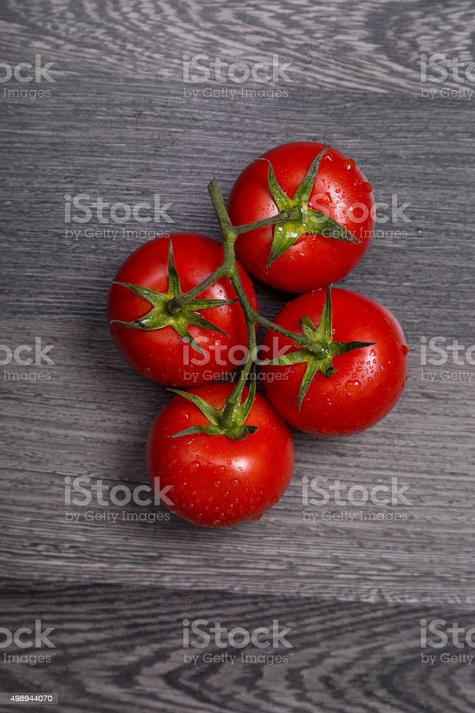Fresh tasty tomatoes stock photo