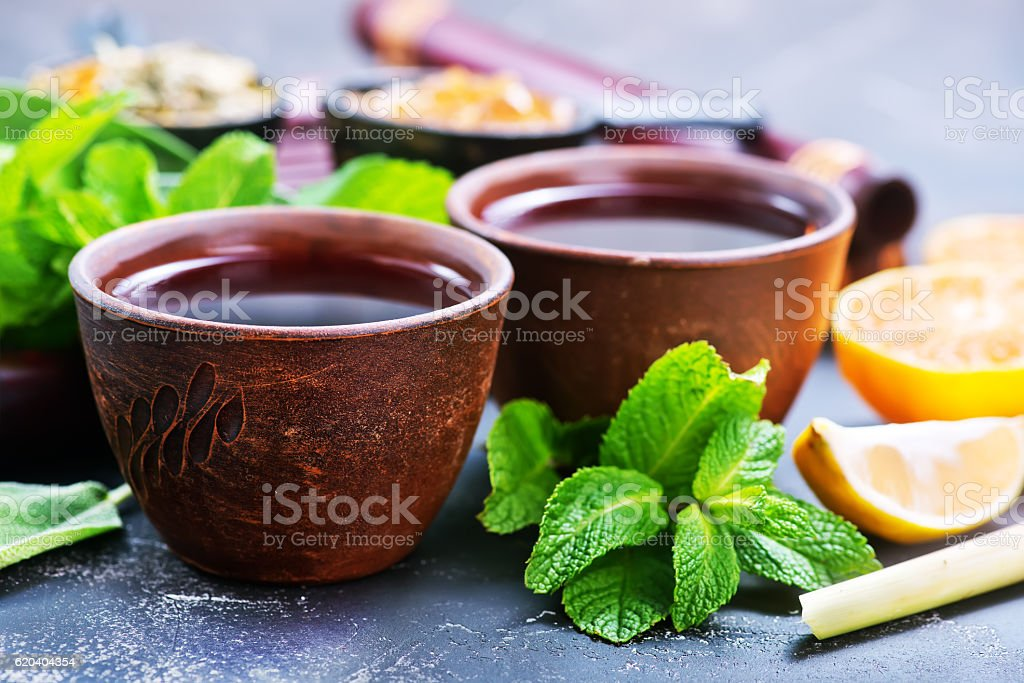 fresh tea stock photo