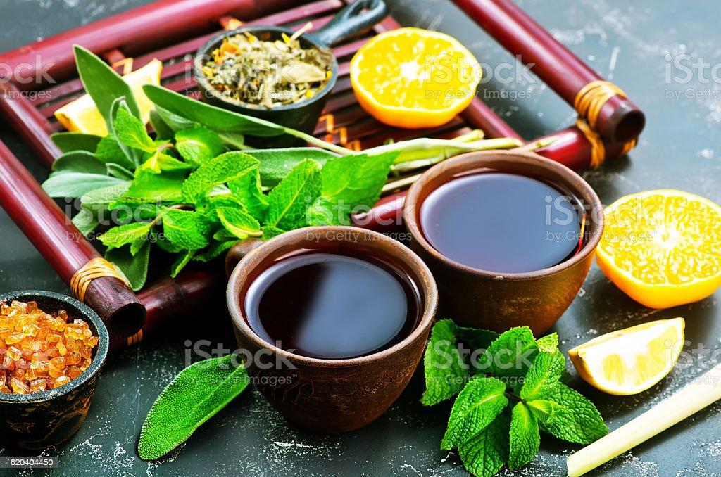 fresh tea stock photo