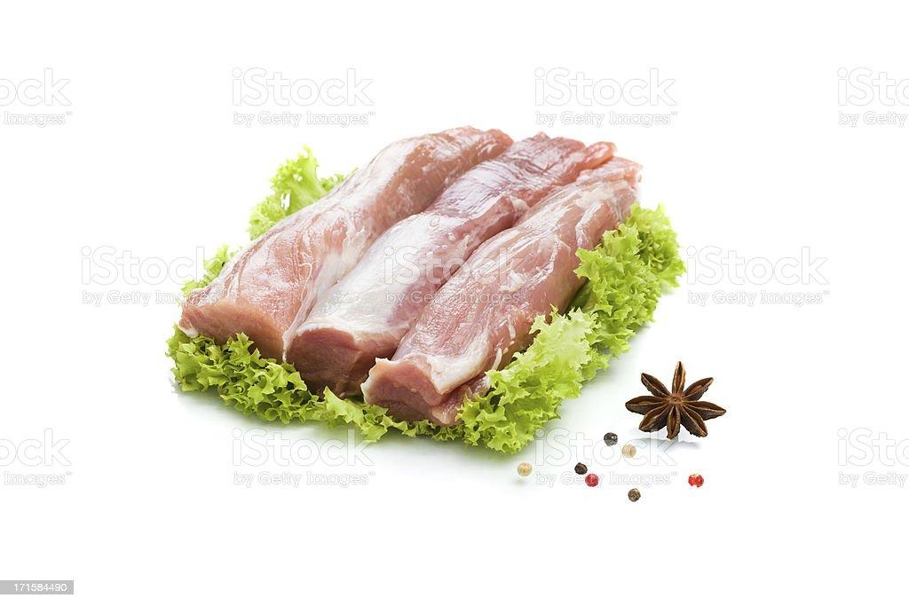 Fresh  tenderloin of pork stock photo
