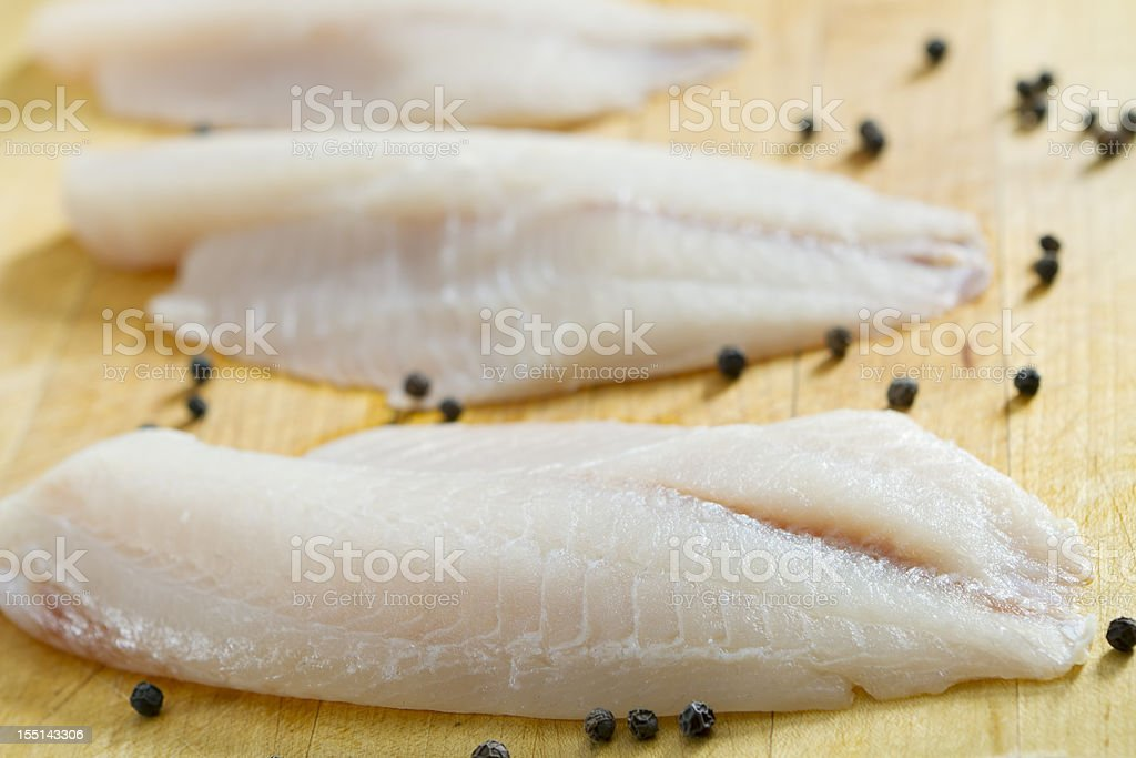 Fresh Tilapia Filets stock photo