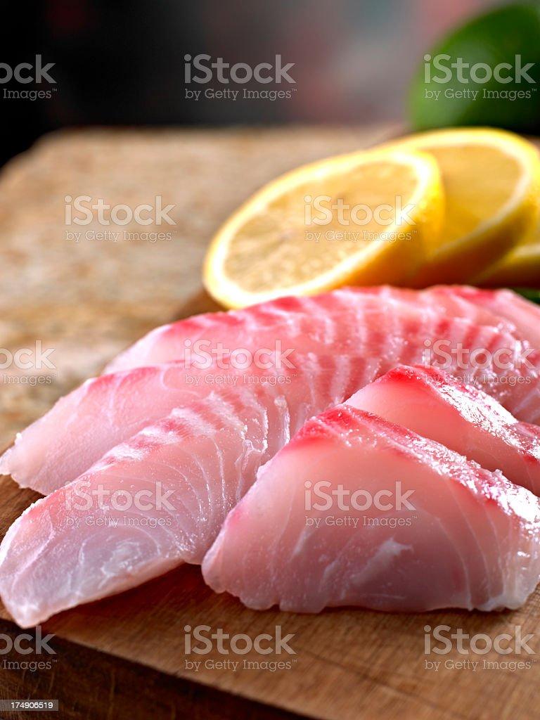 Fresh Tilapia Sashimi. royalty-free stock photo