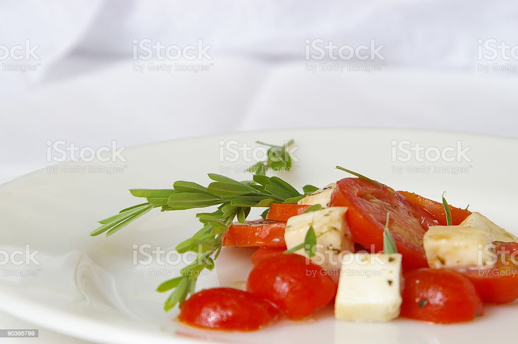 Fresh Tomato Salad royalty-free stock photo
